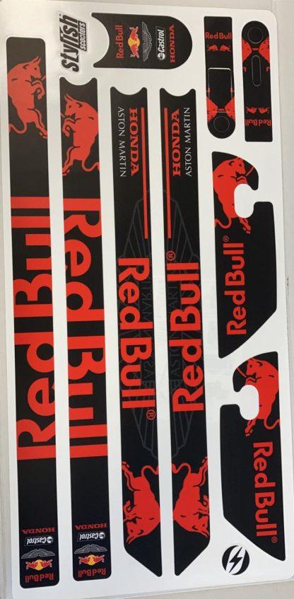 Vinilo Red Bull Rojo